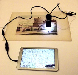 Portable USB microscope for visual inspection